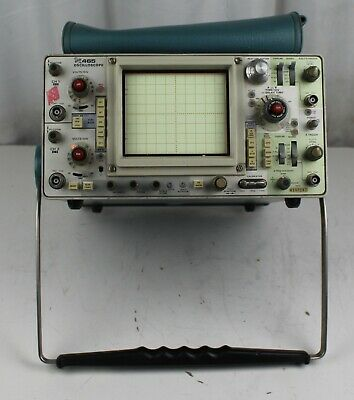 Tektronix 465 Oscilloscope Power Tested For Parts Or Repair Only Sold As Is