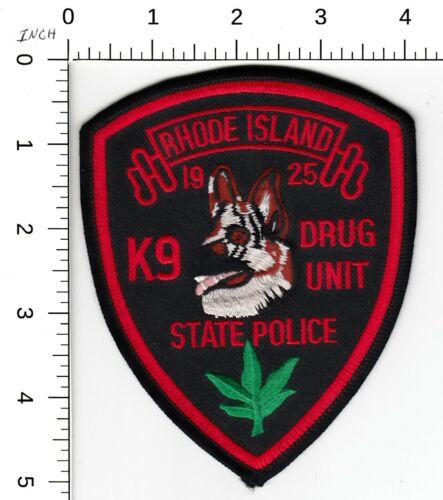 RHODE ISLAND STATE POLICE K9 *DRUG UNIT* PATCH RI CANINE DOG K-9