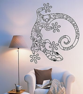 - Wall Vinyl Lizard Gecko Animal Ornament Mural Vinyl Decal (z3337)