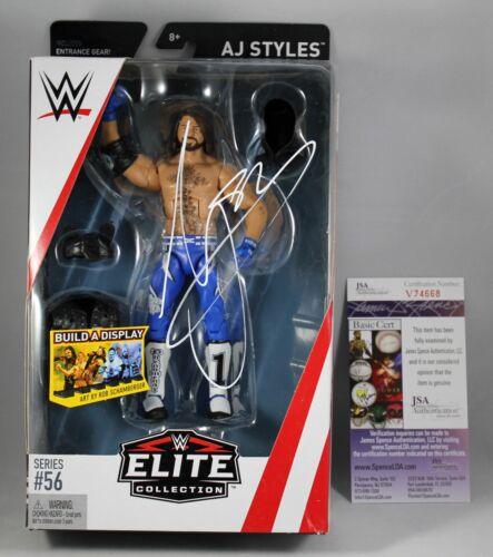 AJ STYLES SIGNED WWE ELITE 56 FIGURE MATTEL SMACKDOWN RAW AUTOGRAPHED +JSA COA
