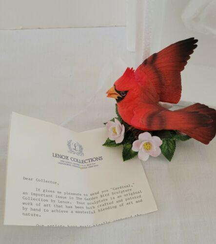 LENOX 1989 CARDINAL  GARDEN BIRD PORCELAIN FIGURINE