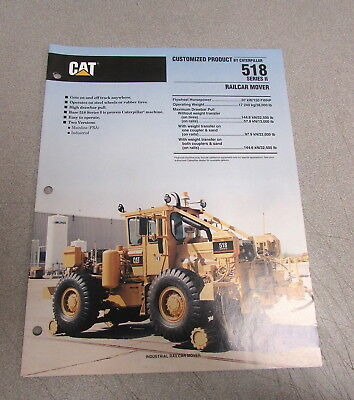 Cat Caterpillar 518 Series Ii Railcar Mover Specifications Brochure Manual 1991