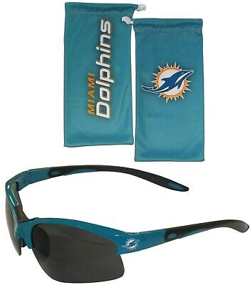 Miami Dolphins Blade Sunglasses with Microfiber Bag (NFL (Dolphin With Sunglasses)