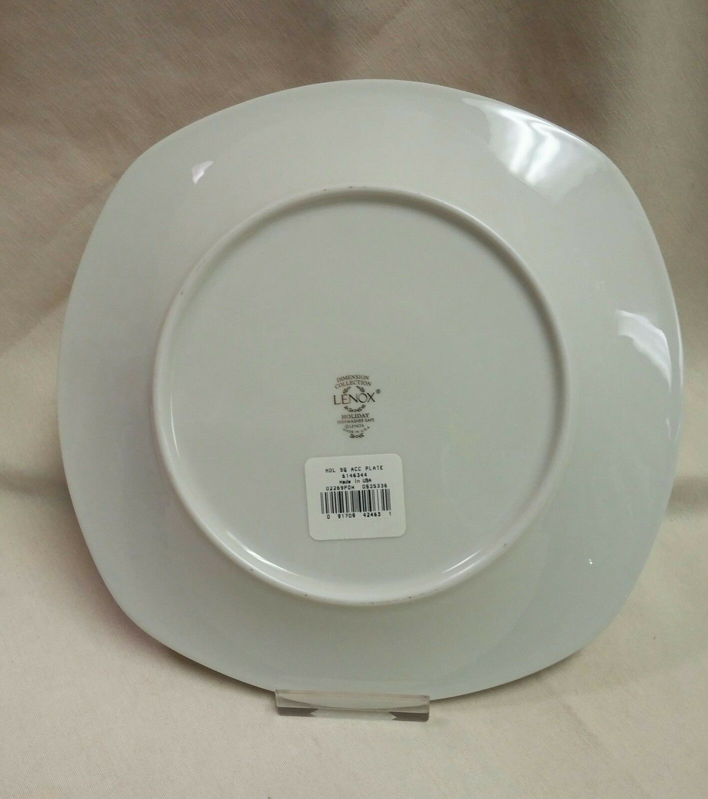 LENOX HOLIDAY Square Salad Accent Plate 8 3/4  - $59.95
