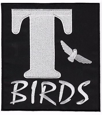 T Birds Patch Grease (T-BIRDS Patch 20cm Embroidered Badge Applique Grease Costume Jacket T BIRDS)