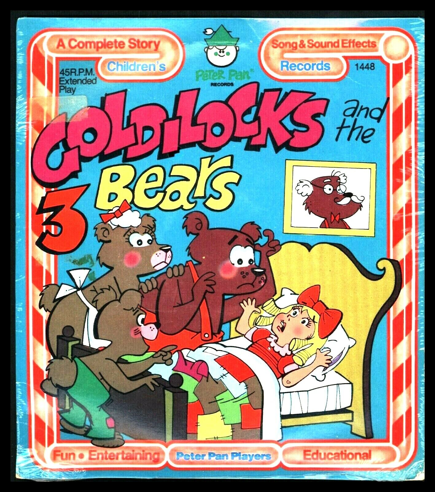 Peter Pan Records Story Book GOLDILOCKS AND THE 3 BEARS 45 Rpm EP Vintage Sealed - $7.95