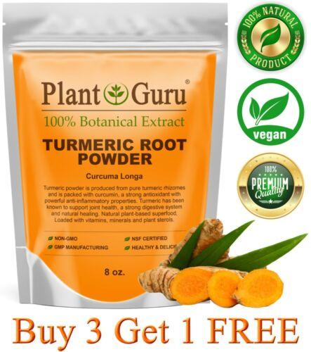Turmeric Root Powder 8 oz. Curcumin Curcuma Longa Raw Pure Tumeric Spice