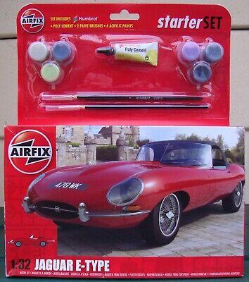AIRFIX STARTER SET No.A55200 JAGUAR E-TYPE 1:32 SCALE MODEL KIT ~ EX SHOP STOCK