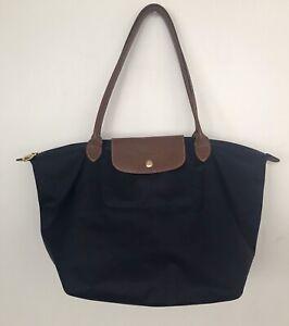 Navy Longchamp Tote Bag