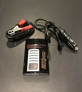 Power Inverter, cigarette, USB, outlet & battery terminal clips