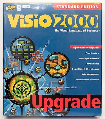 Visio 2000 Standard Edition Upgrade Pc Cd Rom Software New Sealed Retail Box
