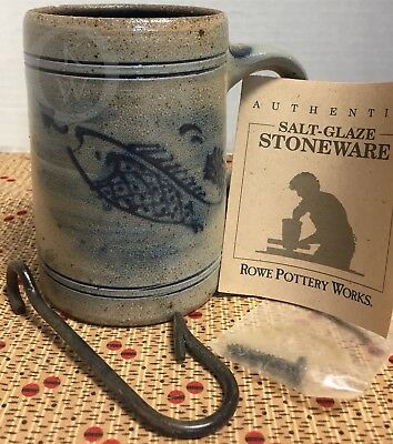 NEW never used*1991 Fish Cup Mug with Fish Hook Hanger & Paperwork 17317o S218