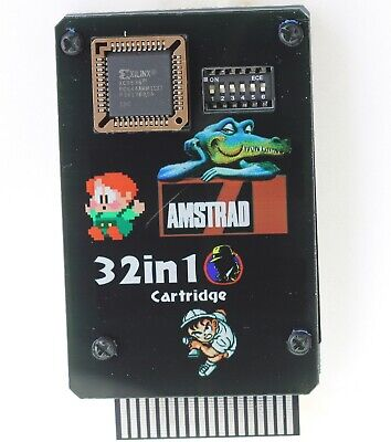 Amstrad GX4000 32in1 cartouche de jeu avec son cover