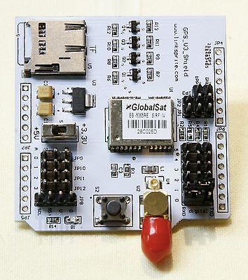 Linksprite Gps Shield V3 Sd Card Slot Arduino Headers Selectable Uart Pins