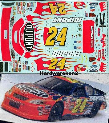 NASCAR DECAL #24 DuPONT FLAMES 2004 MONTE CARLO JEFF GORDON