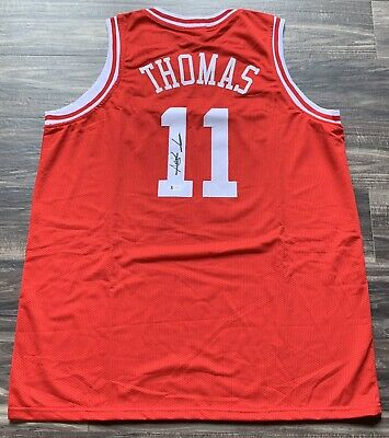 Isiah Thomas Signed Indiana Jersey. Beckett Authenticated