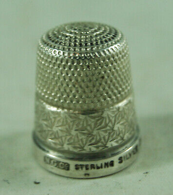 Antique Sterling SIlver Thimble Size 17 Northern Goldsmiths c1930 AZX