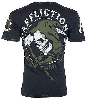 Affliction Mens T Shirt Faster Than Death American Customs Biker Ufc Jeans  58