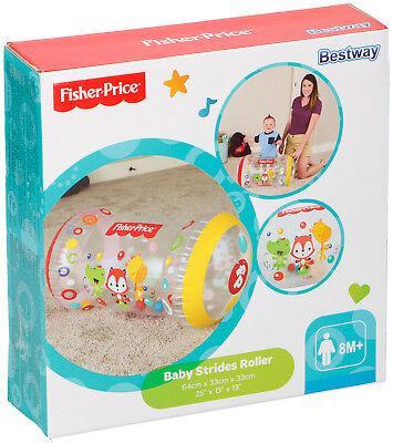 Fisher-Price Krabbelrolle Babyrolle Spielzeugrolle mit Rasselbälle Bestway NEU (Fisher Price Baby Spielzeug)