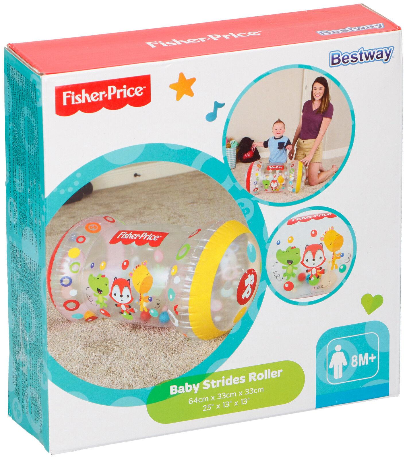 Fisher-Price Krabbelrolle Babyrolle Spielzeugrolle mit Rasselbälle Bestway NEU