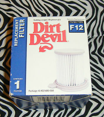 Dirt Devil F12 Filter - NEW Dirt Devil Vacuum Cleaner  F12 Filter Canister. #3KD1680000 Replacement Part