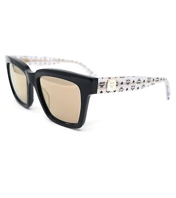 MCM Sunglasses MCM646S 409 Navy-Silver Glitter Visetos Women (Silver Sunglasses Womens)