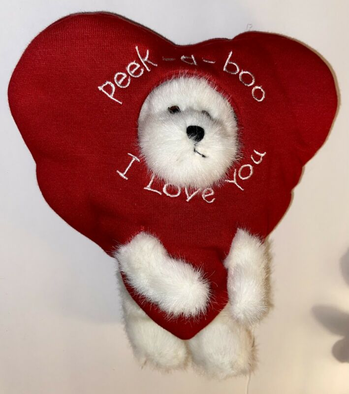 New Boyds Bear Plush Heart Peeker Valentines Day Peek A Boo I Love You Rare
