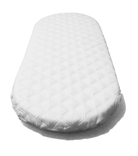 SUZY® Microfibre Hypoallergenic Moses Basket Mattress 67 x 30 x 4cm Thick Oval