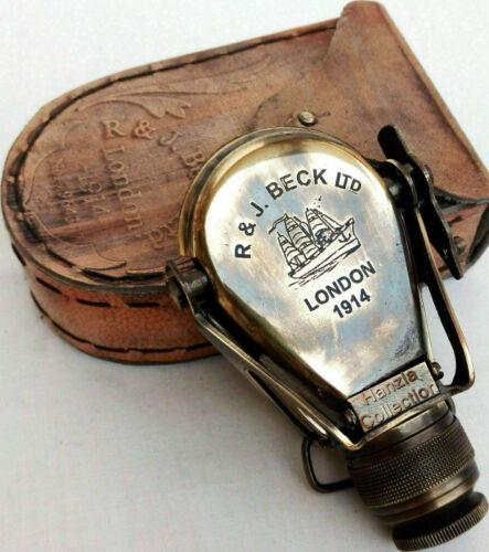 Antique Brass Monocular Binocular Telescope Vintage Nautical Spyglass Scope Gift