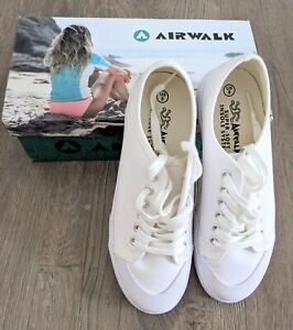 Brand New AIRWALK White Sneakers Shoes Size 8-9