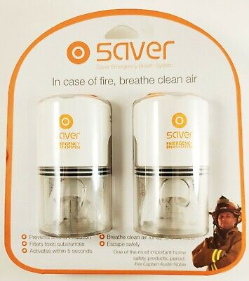 New Saver Emergency Breath System Prevents Smoke Inhalation During Fire Two Unit