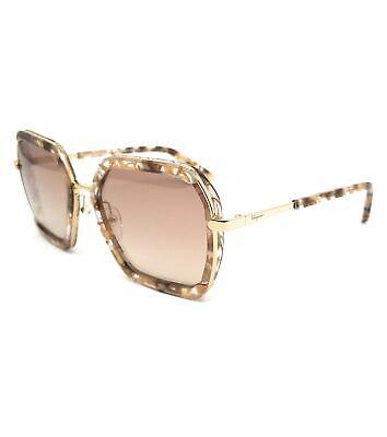 Salvatore Ferragamo Sunglasses SF901S 266 Brown Quartz Rectangle Women 57x20x140