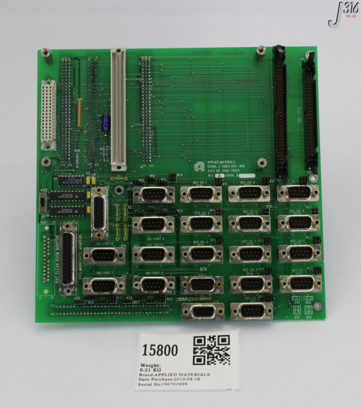 15800 Applied Materials Pcb Assy, Serial/video/ Dcn Distribution 0100-76005