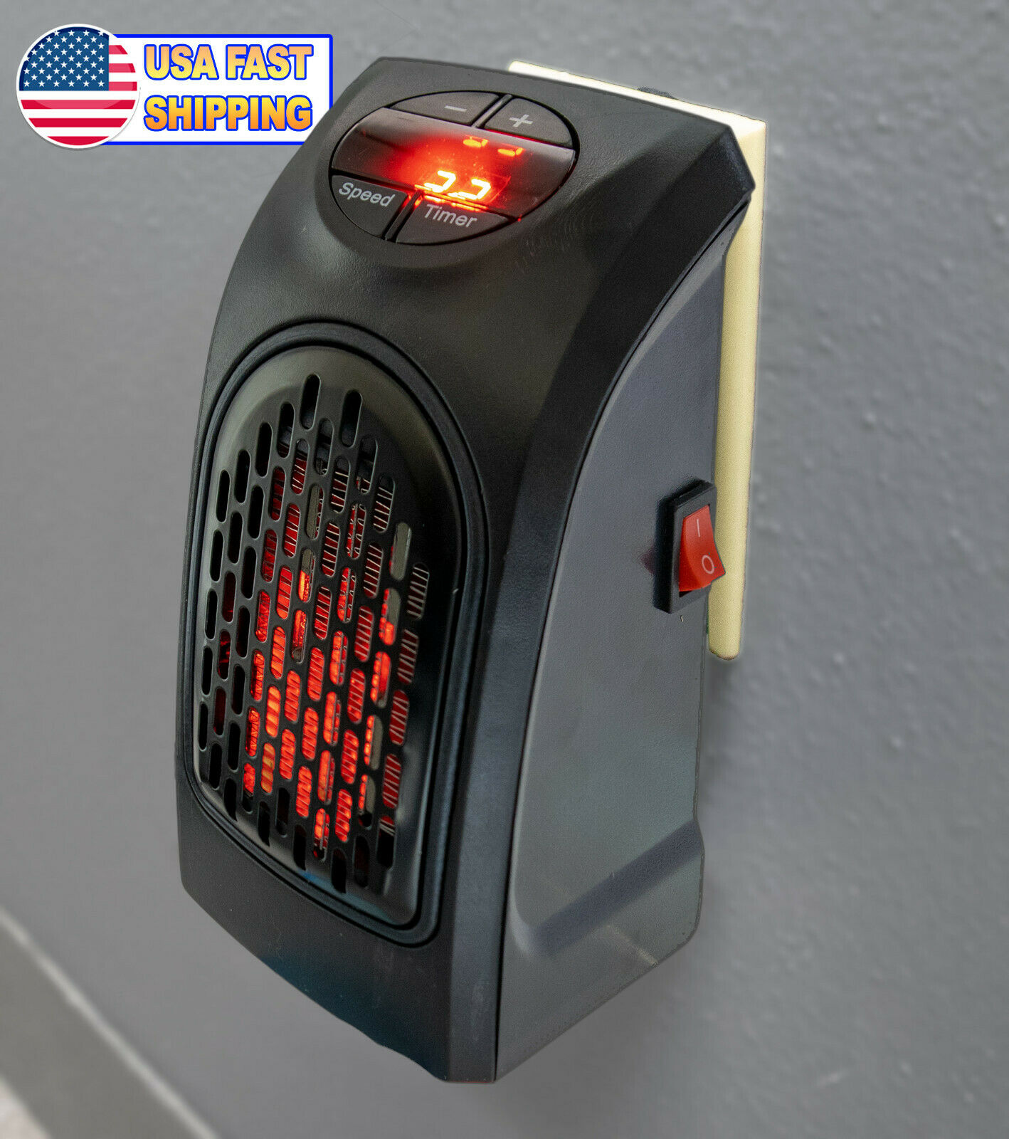 Portable Ceramic Mini Heater Wall Outlet Plug In Space Heate