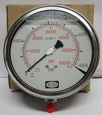 High Pressure Gauge 4000 Bar 60000 Psigly Filledss Body-crdiwaterjet Etc.
