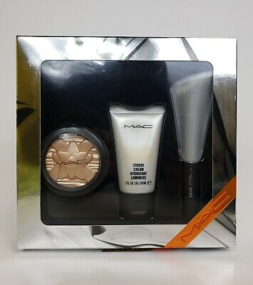 MAC Shiny Pretty Things Glow Better  Gold 3 pc Set - New in Box 100%