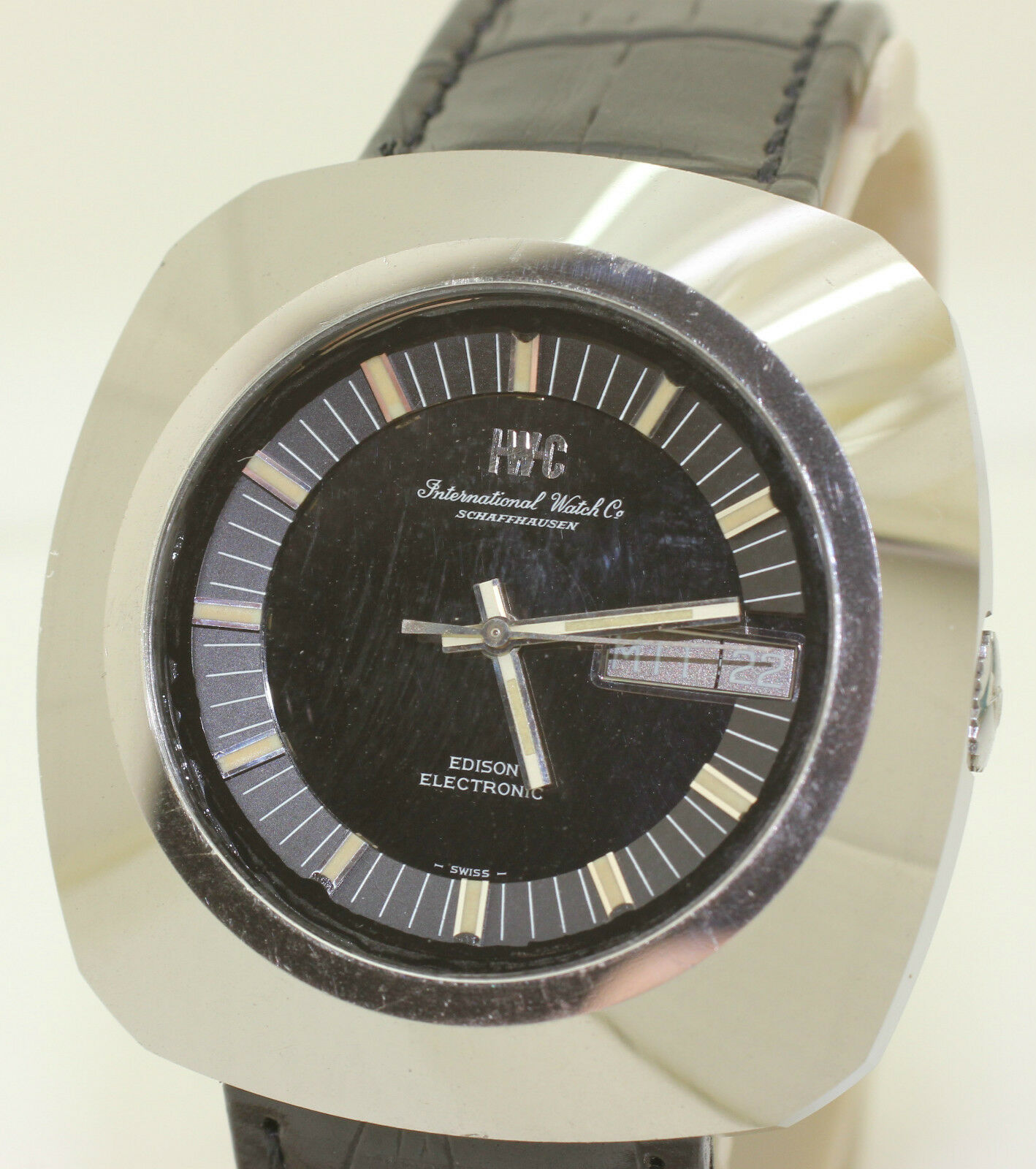 watch alert hand wound watches tourbillon ref iwc portuguese squelette rare icw monochrome