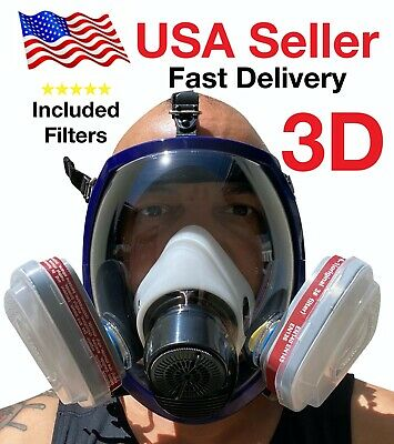 3d Full Face Respirator Large Brand New August 2020 Stock Respirator Paint