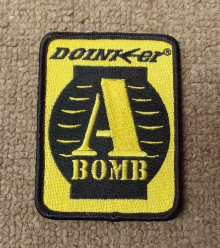 """Doinker Archery Stabilizer Embroidered Patch 3.25""""x 2.5"""" A BOMB"""