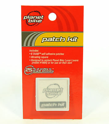 Planet Bike Glueless Patch Kit 6 Patches Flat Bicycle Tire Puncture Fix Kit