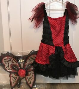 Girl Day of the Dead Señorita Costume, Size 7/8