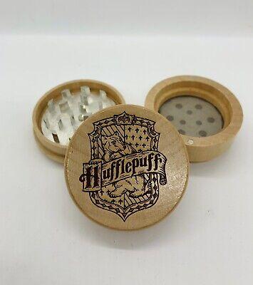 Custom Harry potter hufflepuff  laser engraved wood kitchen herb grinder