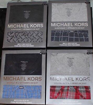 Blue Mens Sleepwear - NEW AUTHENTIC MICHAEL KORS GREY BLACK BLUE RED LOUNGE SLEEPWEAR PAJAMAS SET MENS