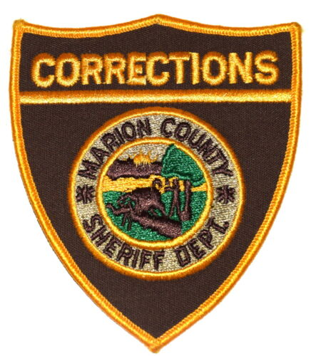 MARION COUNTY – CORRECTIONS - INDIANA IN Police Sheriff Patch STATE SEAL BUFFALO