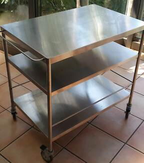 Stainless Steel 3 tier Kithcen Trolley Elanora Heights Pittwater Area Preview