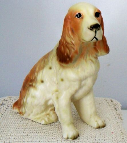"Vintage Rossini Japan Porcelain Cocker Spaniel Dog Figurine~5 12"" Tall"