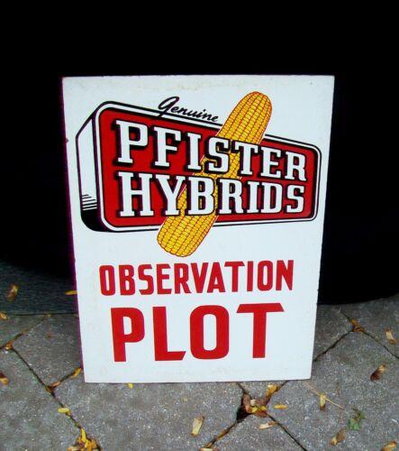 Vintage Pfister Hybrids Seed Corn Observation Plot Sign