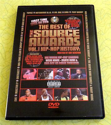 Best of The Source Awards Vol 1: Hip-Hop History ~ 2 DVD Video Set ~ Biggie (The Best Rap Videos)