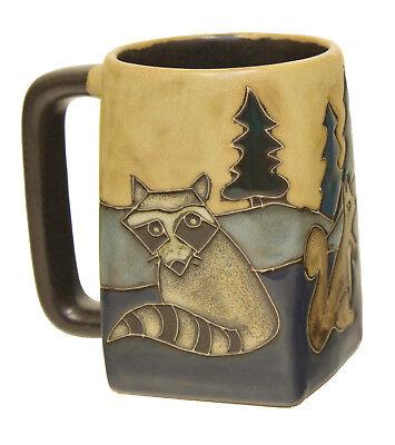 Mara Stoneware Mug - Forest Animals  (One Mug) 12 oz. Square Bottom (511Y4)
