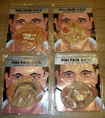 Fun Face Mask Halloween Office Party Half Face Mask Fancy Dress Fun! Choice of 4